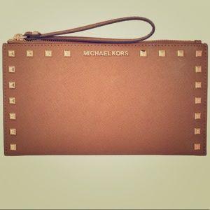 Michael Kors Sandrine Stud Large Clutch Wallet